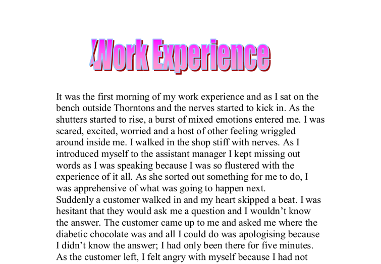 spanish essay about work experience Browse and read spanish work experience essay spanish work experience essay do you need new reference to accompany your spare time when being at home.