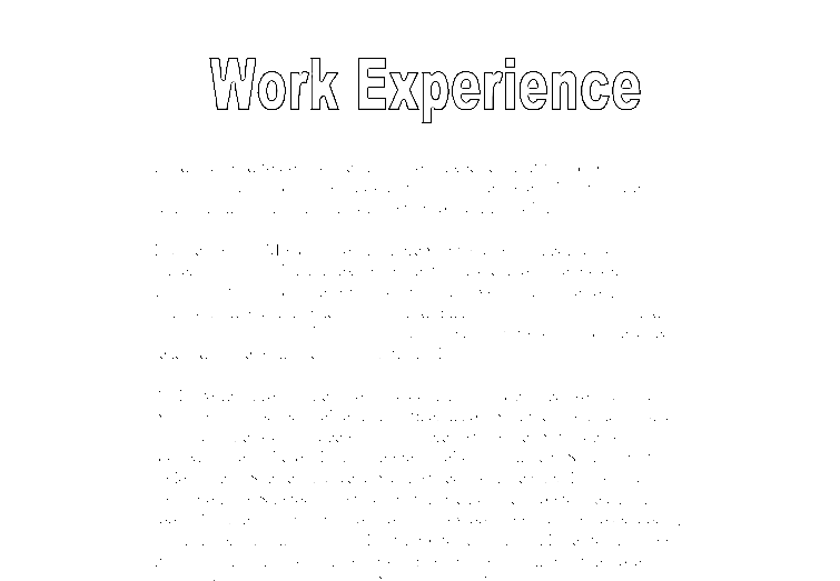 work experience essay for college