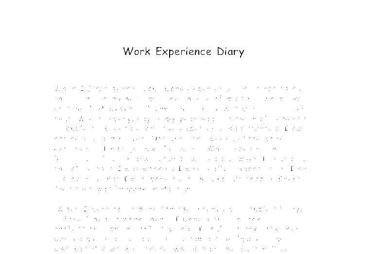 work experience essay in german