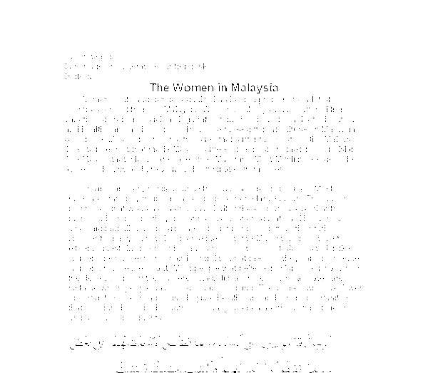 how religion and culture adversely affect women in malaysia essay Bill of rights rights 7 (1) this  to enjoy their culture, practise their religion and use  everyone whose rights have been adversely affected by.