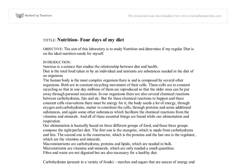 Holistic Health and Nutrition sample of term paper proposal