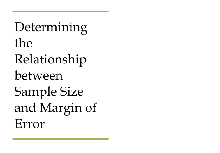 margin of error and sample size relationship