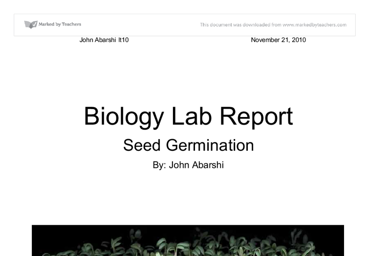ib biology lab report Ib biology lab report sample - instead of having trouble about term paper writing get the needed assistance here find main tips as to how to get the best essay ever.