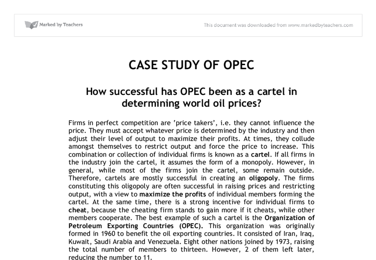 opec case study Discover below how global companies and organizations are using our products and services to reach their business objectives.