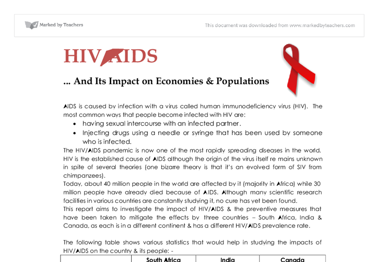 the impacts of aids essay Technology aids student expression students can use much more than just pen and paper to express themselves or present what they have learned.