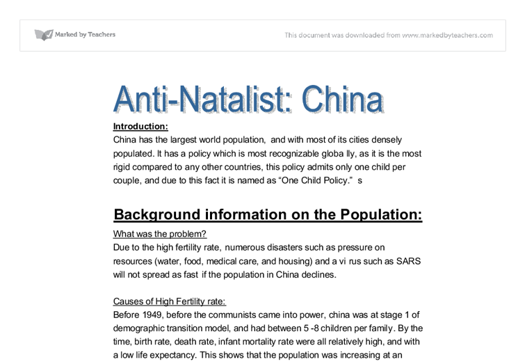 pro natalist and anti natalist laws Anti-natalist these policies are  they can be enforced through laws and government policy such as in china,  pro-natalist these are policies.