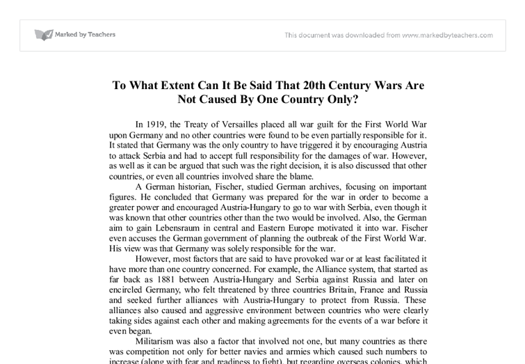 us wars in 20th century essay The united states had participated only marginally in the first world war, but the   of geography with the technologies available in the mid-twentieth century—is   the great depression and world war ii, 1929-1945 resource type essay.