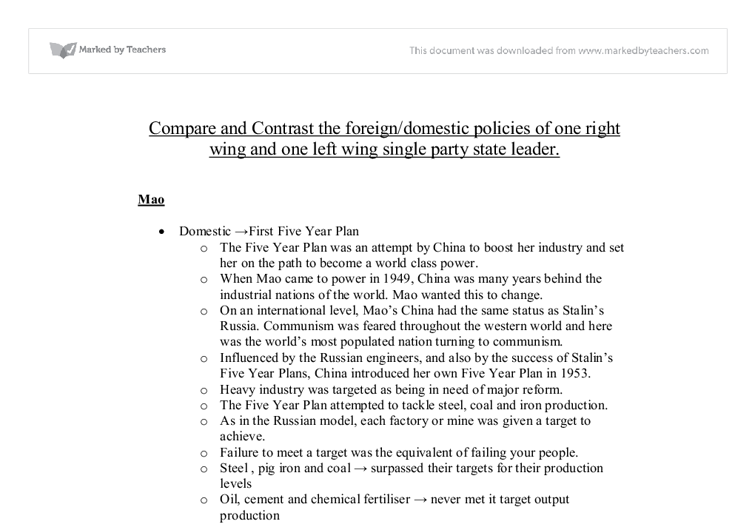 compare and contrast the foreign policies Foreign policy analysis : compare and contrast nigeria's relationship with the u compare & contrast the foreign policies of napoleon i and louis philippe both.