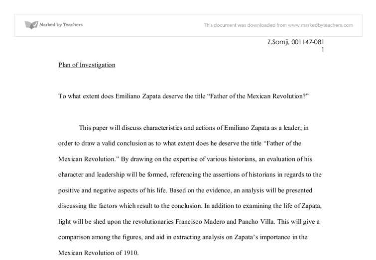 essay on emiliano zapata