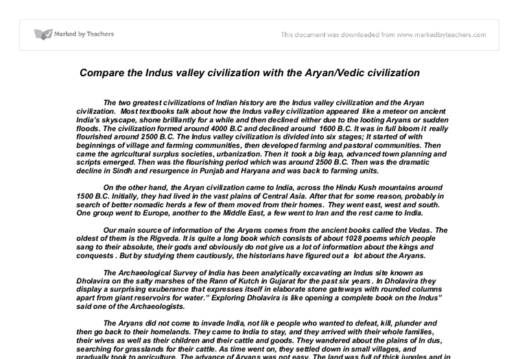 Indus Valley Civilisation Essay Sample