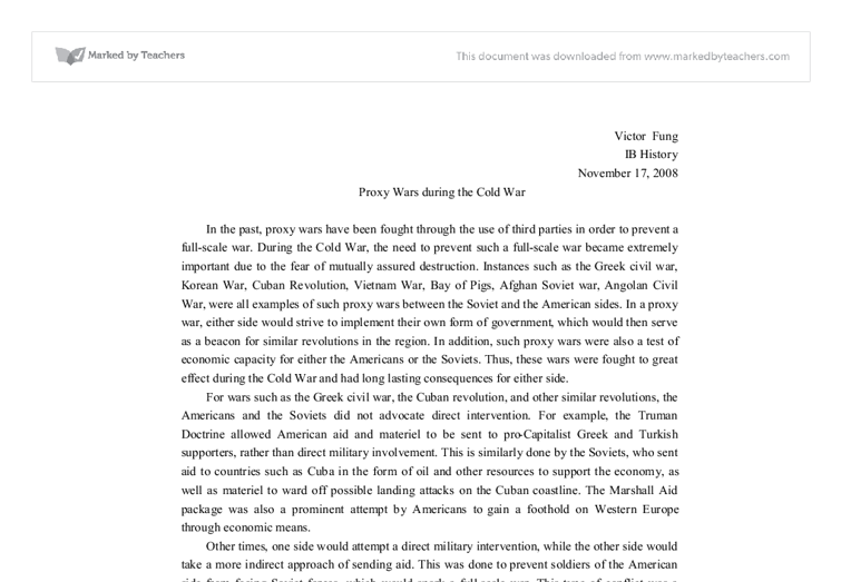 war begins essay cold war begins essay