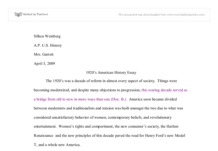 s american history essay international baccalaureate history  document image preview