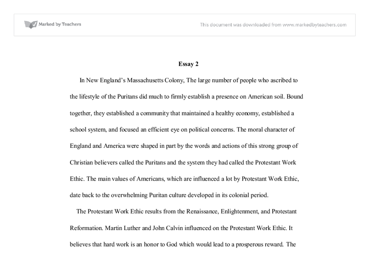 protestant work ethic international baccalaureate history  document image preview