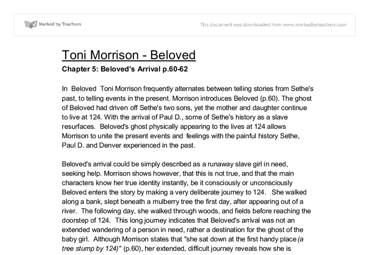 the style of toni morrisons beloved essay