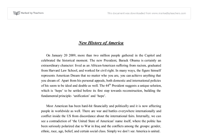 new history of america - barack obama 44th inaugural speech analysis essay The inaugural speech of president barack obama is written in a pretty  obama's inaugural 2013 essay  essay on speech analysis of president obama.