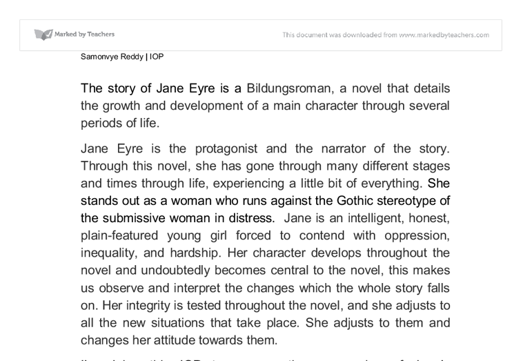 jane eyre bildungsroman essay example Compare and contrast jane eyre essay topics  expectations as bildungsroman 4 compare the novel jane eyre and the film (2011)  the example of.