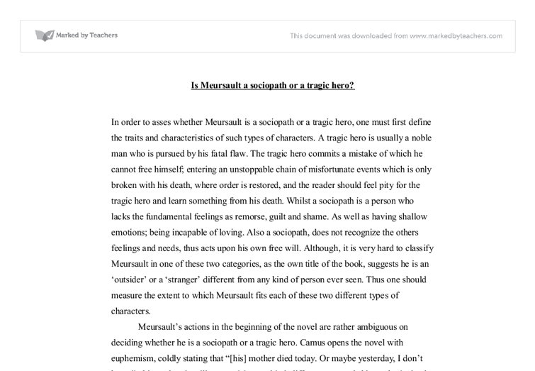 is meursault a tragic hero or a sociopath international document image preview