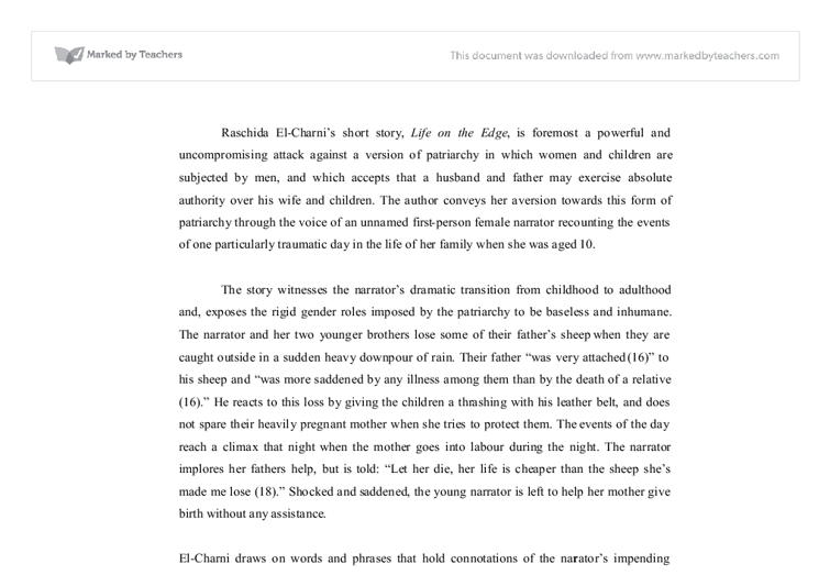 commentary on raschida el-charnis life on the edge essay Wwwsciencegov.