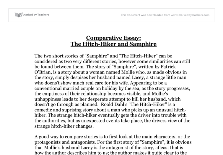 Comparative Essay The Hitch Hiker And Samphire International