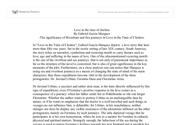 Modern Classroom Paragraph ~ The significance of riverboat and sea journeys in love
