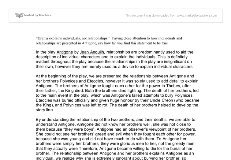 essay about antigone and creon Antigone essay - experience the  this free study guides and analysis of antigone essays provide excellent essay length antigone confronts creon over her brother's.