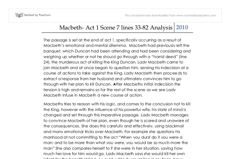 context essay on macbeth