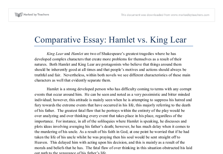 King lear essays power