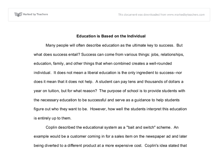 Essay on education is the key to success
