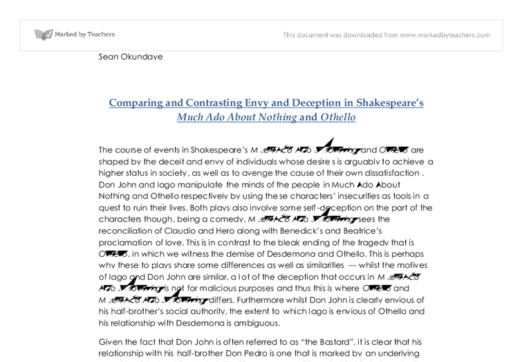 much ado about nothing deception essay