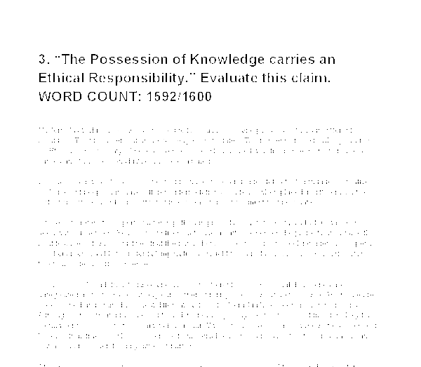 the possession of knowledge carries an ethical responsibility  document image preview