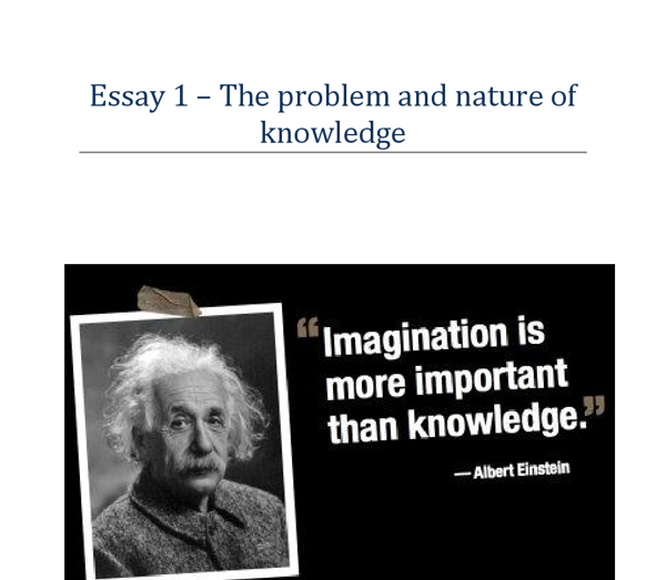 Essay on einstein