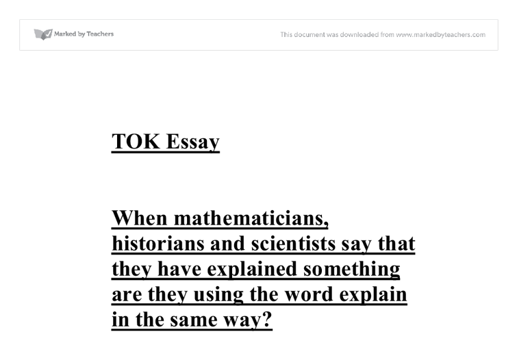 essay mathematicians A guide to writing mathematics dr kevin p lee introduction this is a math class why are we writing there is a good chance that you have never written a paper in a math class before.