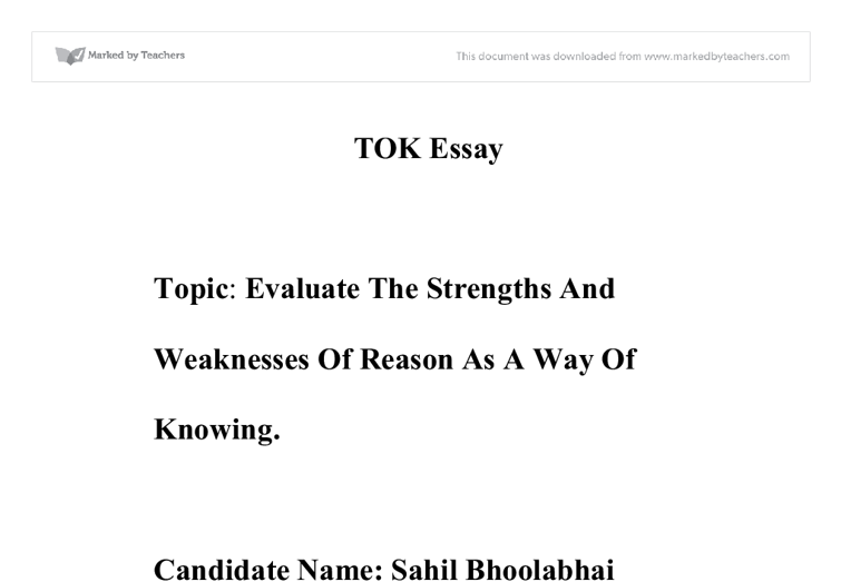 tok essays 2009 Want help on the ib extended essay here's our complete guide, full of example ideas, essay topics, timeline, step by step plans to get a great score on your essay.