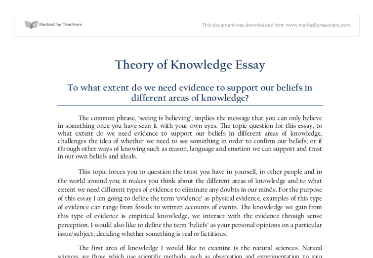 theory of knowledge knowledge opinion and