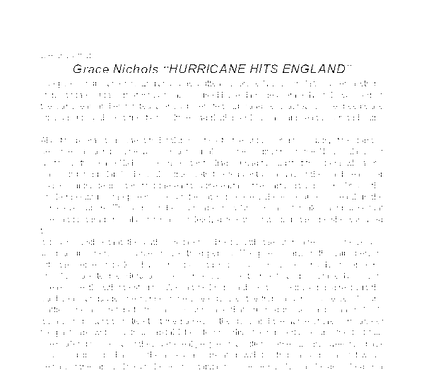 hurricane hits england essay Hurricane hits england is taken from her collection of poetry, sunrise just send your request for getting no plagiarism essay order here get your.