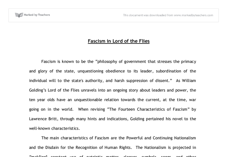 essay of fascism