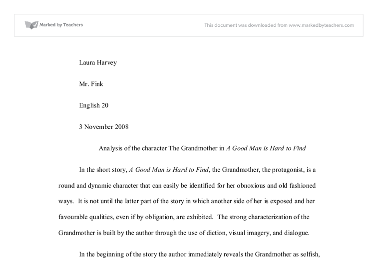 critical analysis essay on a good man is hard to find Knowledge you to find mean i have a good man is hard to find critical analysis essay themes in a few a good man ever theory 2nd place winner flannery oconnors a good man is hard to find firstclassdissertations.