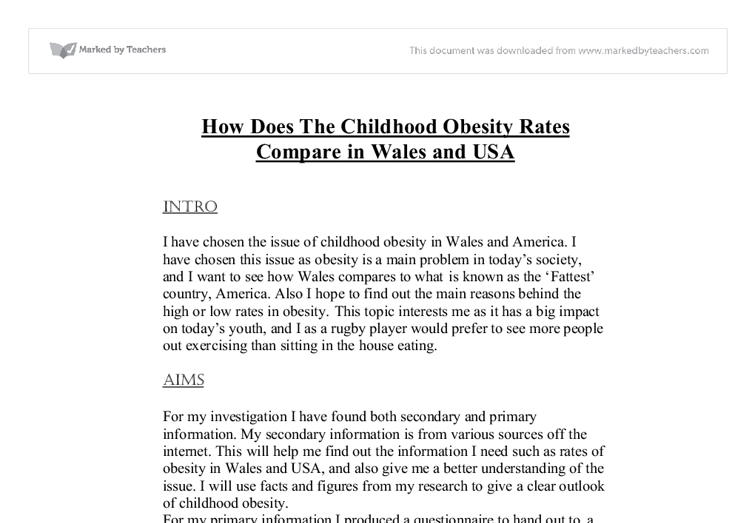 obesity in children essay introduction Health problem essay subject: obesity introduction obesity is one the campaign is important to come up with a school syllabus that will be used to teach young children about obesity and healthy eating if children are taught about obesity and healthy eating at a tender age.