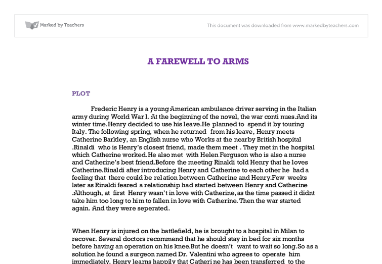 a farewell to arms essay a farewell to arms essay on war