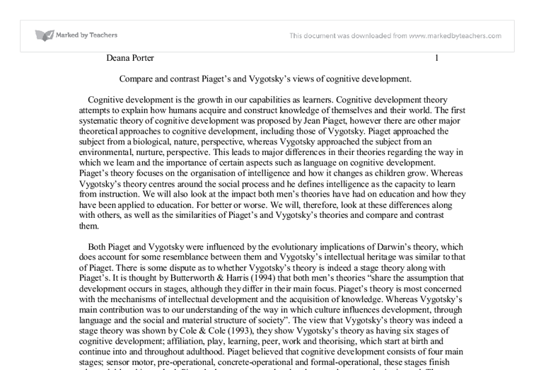 compare and contrast piaget s and vygotsky s views of cognitive document image preview