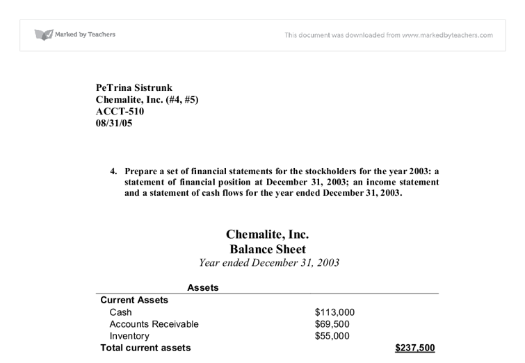 chemalite case study Income statement (for 6 months june 30, 1991): revenue costs and expenses advertising administration manufacturing costs raw materials r&d interest depreciation amortization of patent – – net income – 15 515 fall 2003 session 1 problem set #2: chemalite case 3.