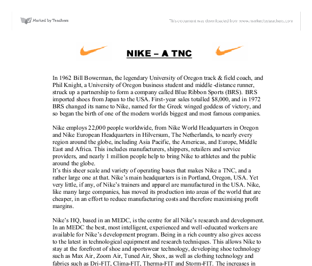 nike microeconomics Nike v kasky is one of the most important cases bearing on corporate social  responsibility ever to reach the  microeconomics englewood cliffs, nj:  prentice.