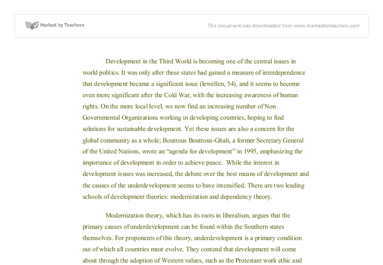 economic development in the third world todaro pdf