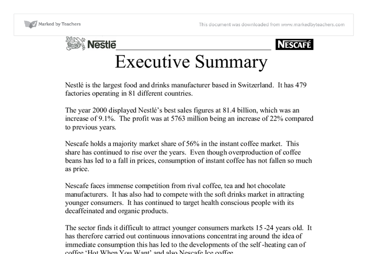 executive summary nestl university business and administrative