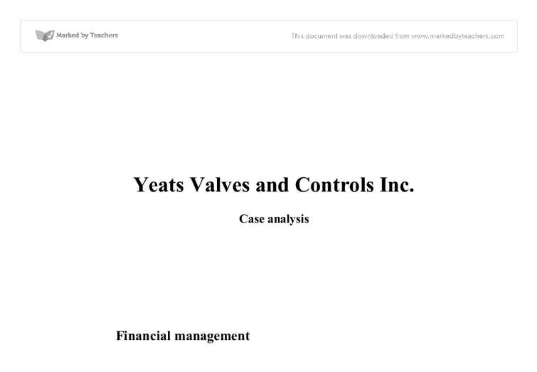 flinder valves and controls inc case study Free essay: in this case study, we will talk about negotiate a possible acquisition  of flinder valves and controls inc by rse international.