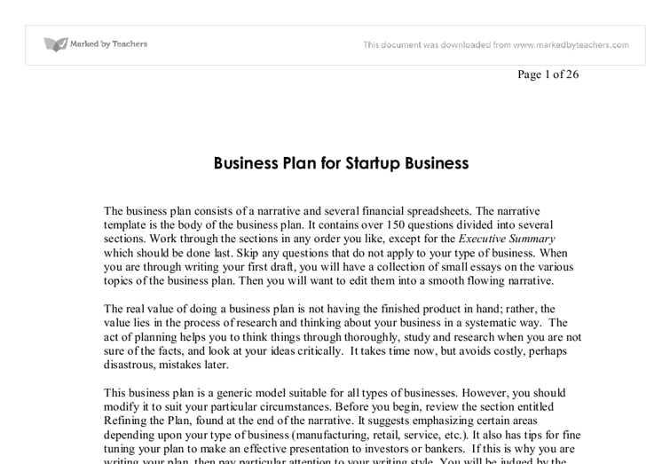 Essay on how to start a business