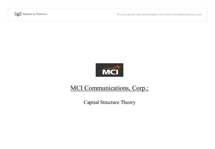 group case 3 mci communications corp Worldcom company timeline worst with mci's communications group inc and metromedia communications corp in a three-way stock and.