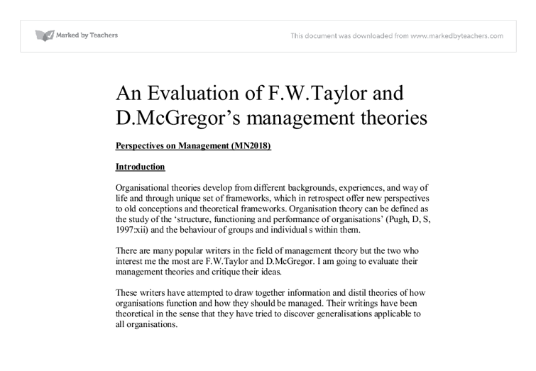 taylorís theory essay Download mathematical analysis i for engineers and beginning mathematicians download free online book chm pdf.
