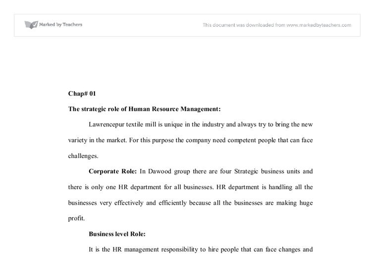 the role of human resource management essay Their roles in school effectiveness - kazi hoque megat ahmad kamaluddin   school politics - publish your bachelor's or master's thesis, dissertation, term  paper or essay  chapter 4 human resource managers and quality  education.