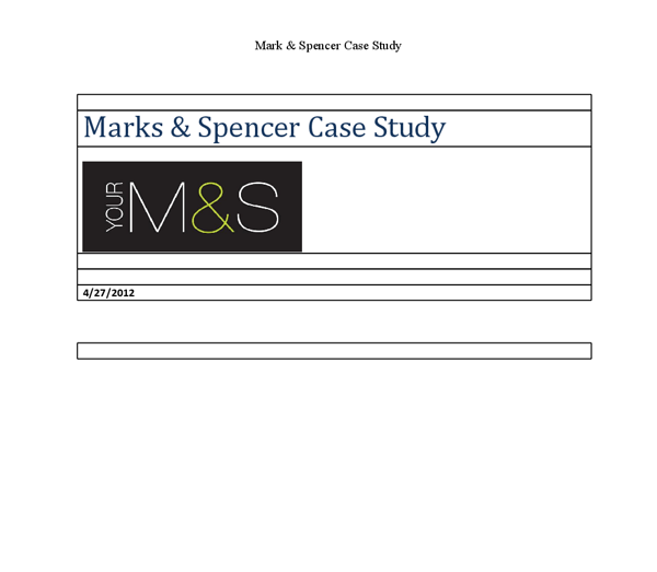 Why were Marks & Spencer (M&S) so successful? Essay